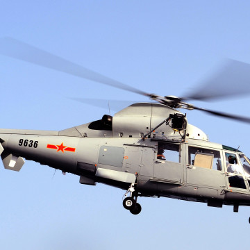 Chinese Helicopter Lands on HMS Cornwall
