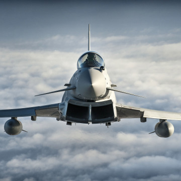 RAF Typhoon Aircraft During Exercise Capable Eagle