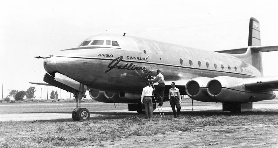 Avro Canada C-102 Jetliner, rówieśnik bohatera niniejszego artykułu, a zarazem drugi na świecie odrzutowiec pasażerski. Niestety powstał tylko jeden prototyp