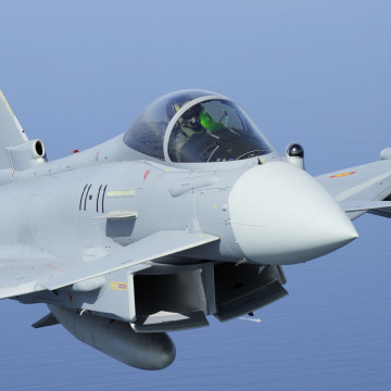 Spanish Air Force Eurofighter Typhoon from ALA-11 bsed in Moron