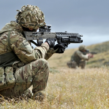 Soldier with 1RRF During Exercise Southern Warrior