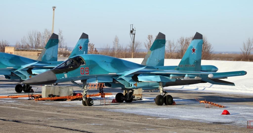 Su-34 w bazie lotniczej w Lipiecku (fot. Vitaly V. Kuzmin na licencji Creative Commons Uznanie autorstwa – Na tych samych warunkach 3.0)
