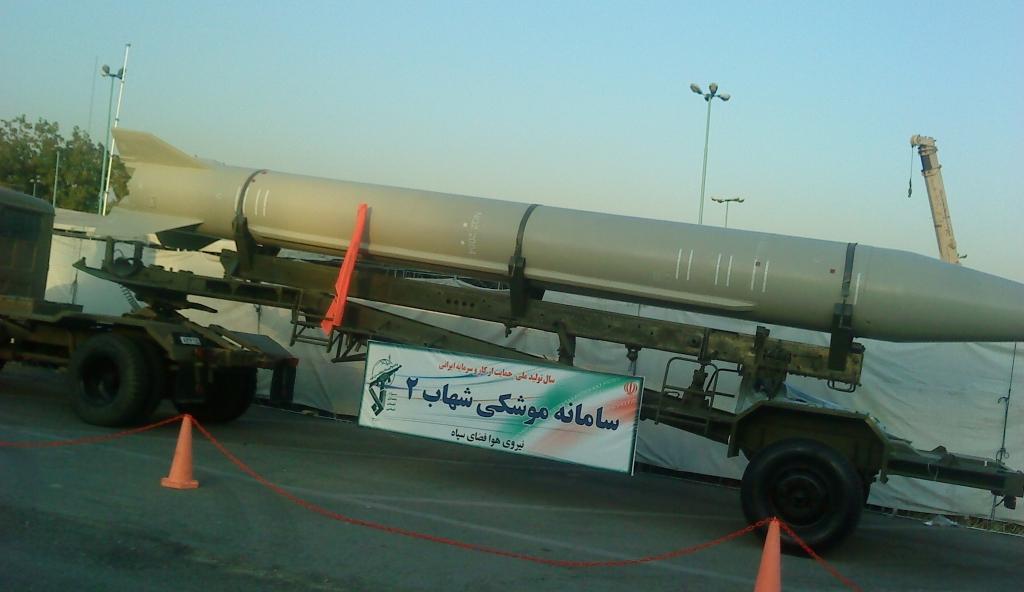 Irański rakietowy pocisk balistyczny krótkiego zasięgu Szahab 2 (fot. Vahid alpha na licencji Creative Commons Attribution 3.0)