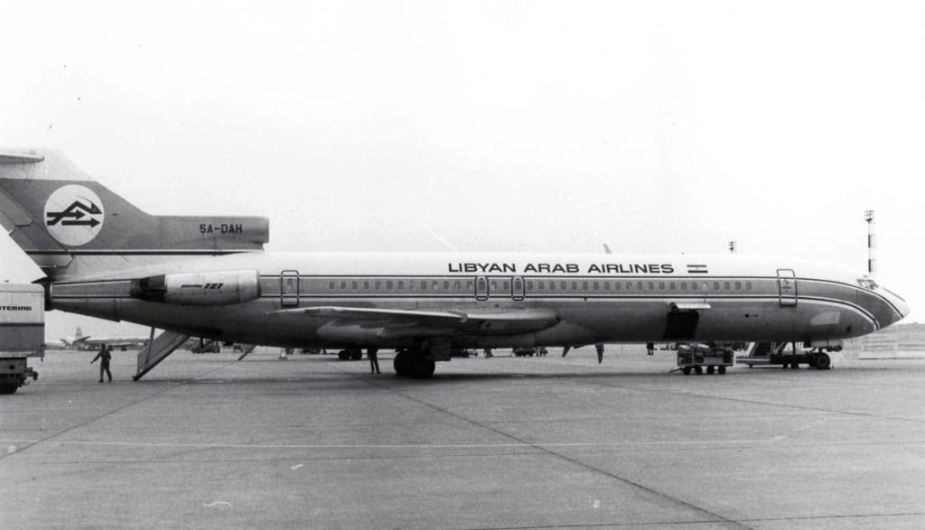Boeing 727-224, 5A-DAH zestrzelony przez Izraelczyków wykonał pierwszy lot 16 października 1968 roku. Najpierw tradił do Continental Air Lines (jako N1782B), kupiony przez Libyan Arab Airlines 28 grudnia 1970 roku. (fot. Piergiuliano Chesi na licencji Creative Commons Uznanie autorstwa 3.0)
