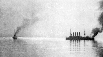 Russian_cruiser_Variag_on_fire,_Chemulpo_harbour_1904