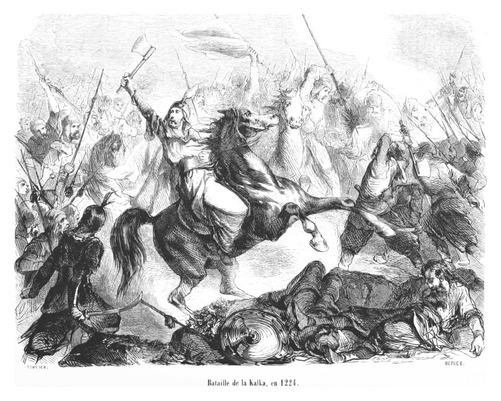 Bitwa nad Kałką, rycina z XIX wieku