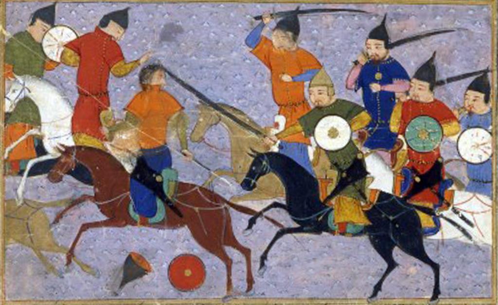 Bitwa Jin z Mongołami, wyobrażenie z XV wieku.