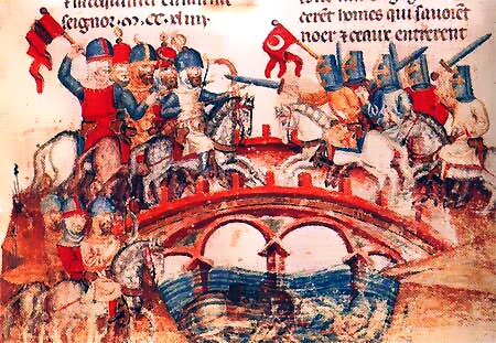 Bitwa na równinie Mohi na ilustracji z epoki