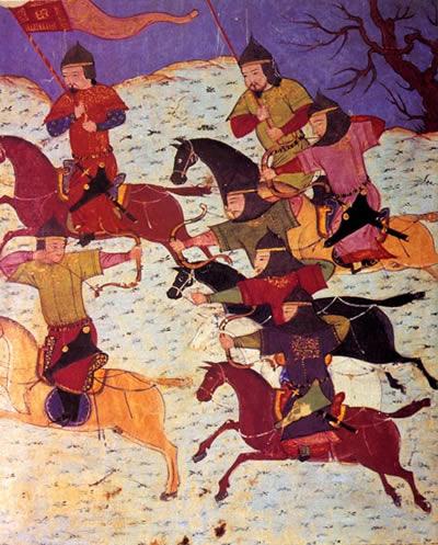 Mongolscy łucznicy konni