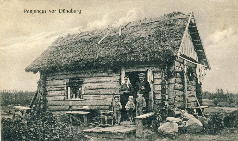 Panjehaus koło Dyneburga, pocztówka z kolekcji autora