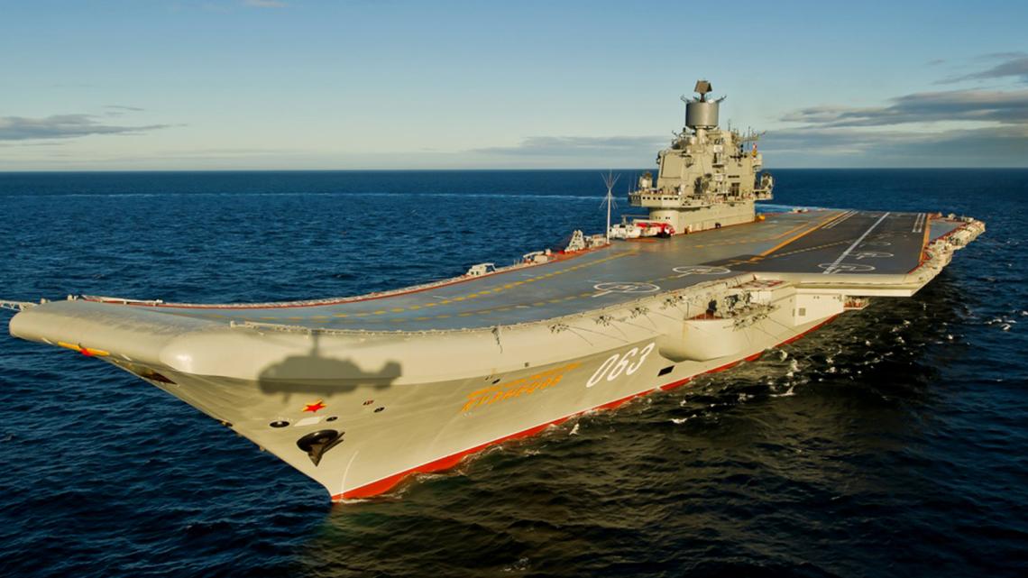 Admirał Kuzniecow Morze Śródziemne1