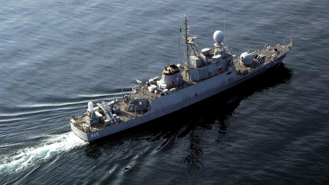 Saudyjska fregata ciężko uszkodzona