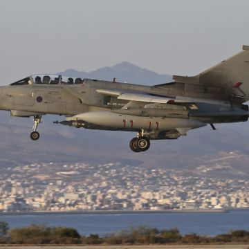 RAF CONDUCTS FIRST AIR STRIKES OF IRAQ MISSION