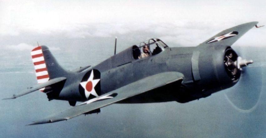 """F4F-3 Wildcat – pierwszy myśliwiec z """"kociej"""" rodziny Grummana (fot. US Navy)"""