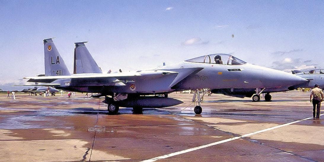 Listopad 1974 roku; F-15A świeżo po przybyciu do 555. Taktycznej Szkolnej Eskadry Myśliwskiej (fot. US Air Force)