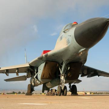 IRIAF_Mikoyan-Gurevich_MiG-29A_(9-12A)_at_Dezful