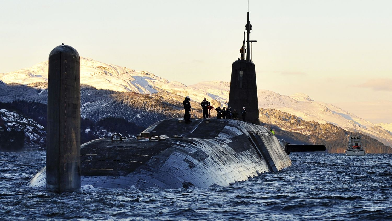 Brytyjski podwodny nosiciel pocisków balistycznych HMS Vanguard
