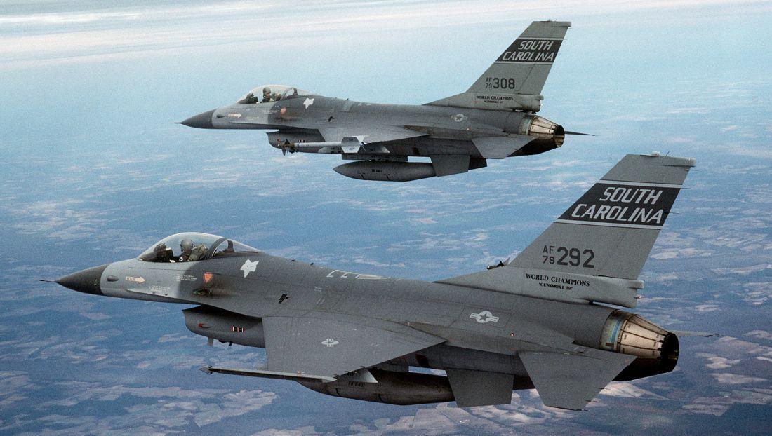 kolizja dwóch F-16