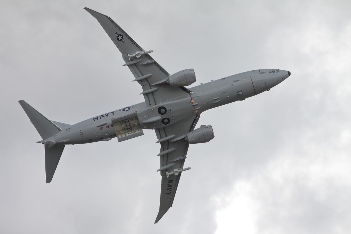 P-8 Poseidon z otwartą komorą bombową (Łukasz Golowanow, Konflikty.pl)