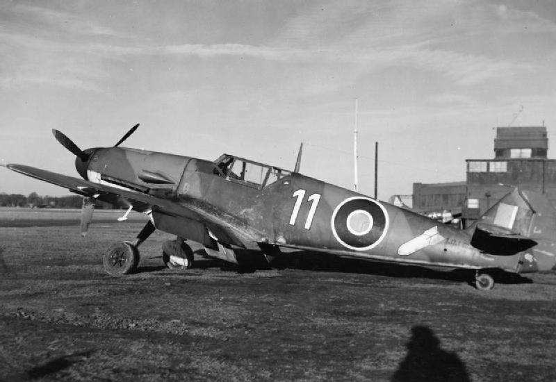Bf 109F-4/B W.Nr 7232 (NN 644) podczas służby w Rafwaffe