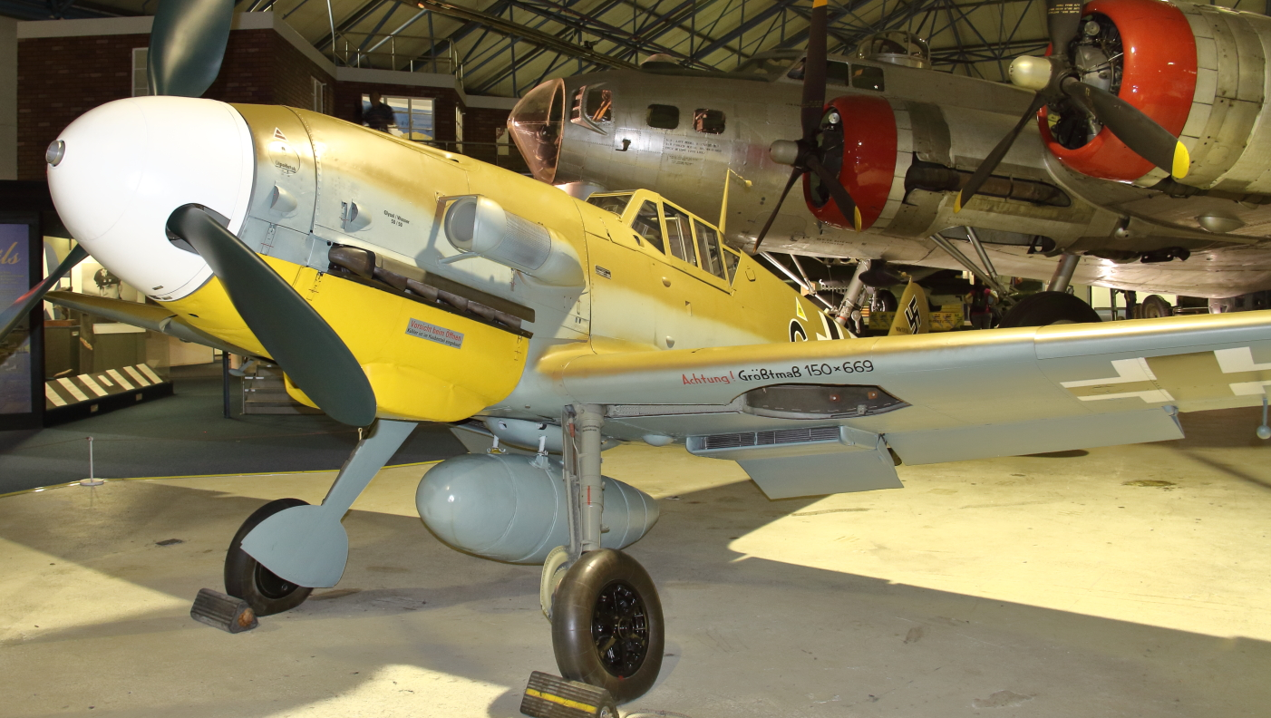 Bf 109G-2/Trop W.Nr 10639 w Royal Air Force Museum London (fot. Łukasz Golowanow, konflikty.pl)
