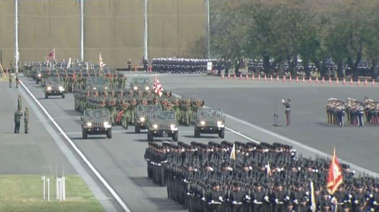 japońskie siły samoobrony defilada