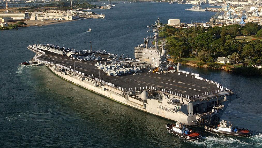 USS Ronald Reagan lotniskowiec Shandong