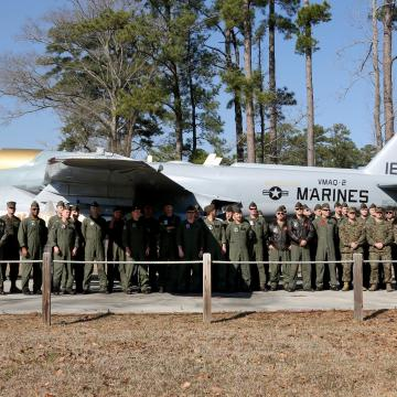 Prowler's 40th anniversary commemorated aboard MCAS Cherry Point