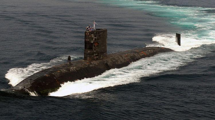 HMS_Tireless_at_sea