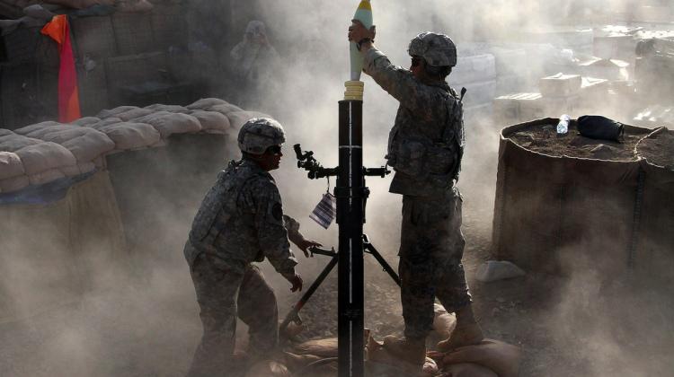 zaopatrywanie przez ostrzał moździerzowy