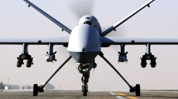 Reaper UAV Taxis at Kandahar Airfield