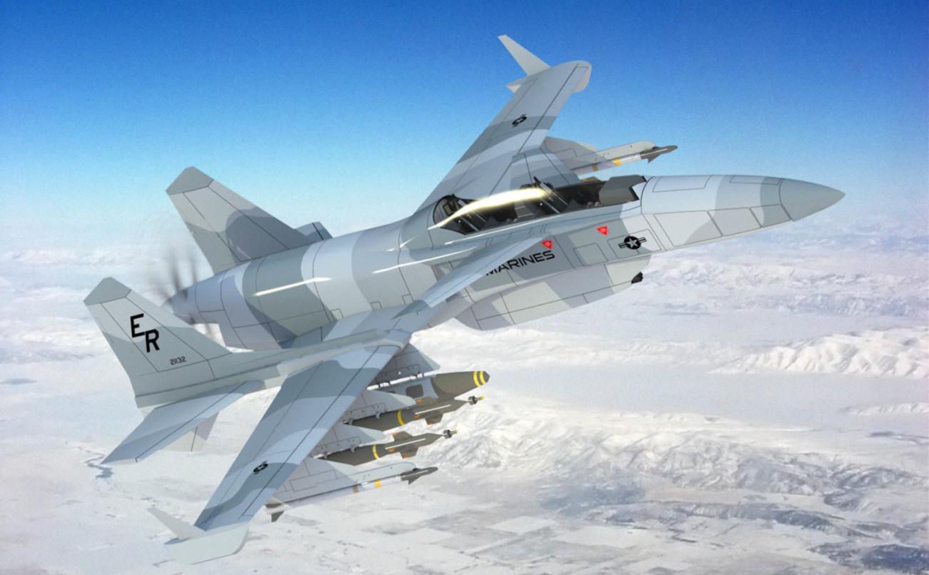 Wizja turbośmigłowego samolotu pola walki SM-27 Machete (Stavatti Aerospace)