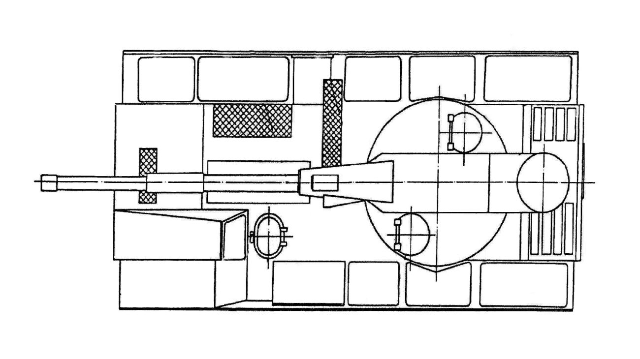 Widok z góry. Rysunek z dokumentów patentowych