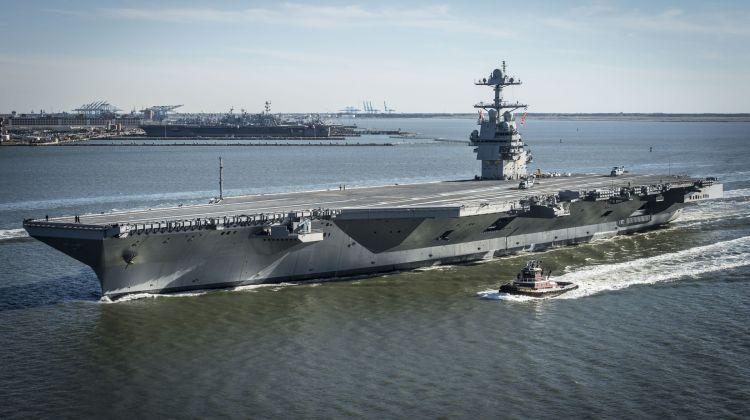Ruszają próby morskie USS Gerald R. Ford