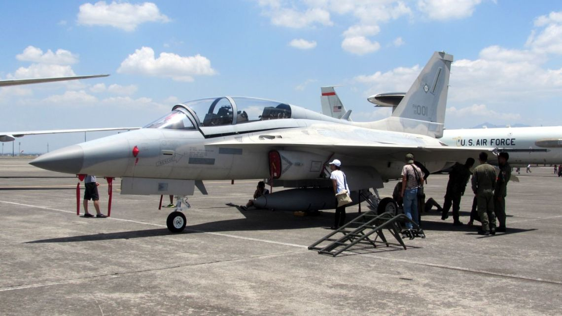 Side view of an FA-50PH aircraft of the Philippine Air Force. Photo taken during the Static Aircraft Display Day of the Balikatan 2016 Exercise.
