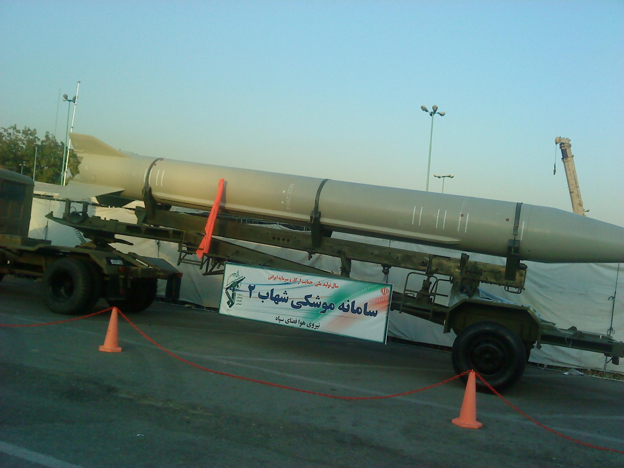 Pocisk balistyczny Szahab-2 (Vahid alpha, Creative Commons Attribution 3.0 Unported)