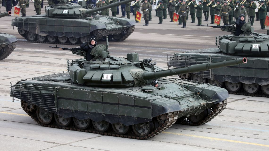 Czołgi T-72B3 Białoruś   Konflikty.pl