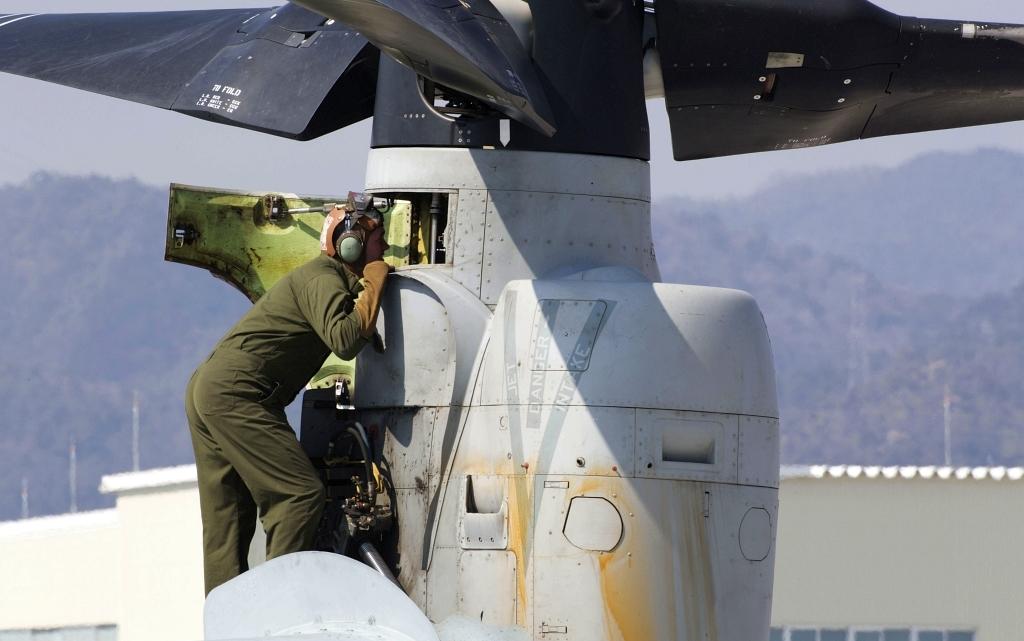 Awaryjne lądowanie MV-22 i F/A-18C USMC w Japonii | Konflikty.pl