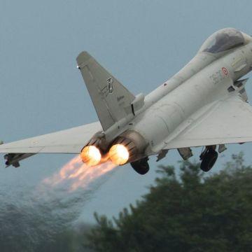 Eurofighter EF-2000 Typhoon S MM7280 (cn IS012) full AB takeoff