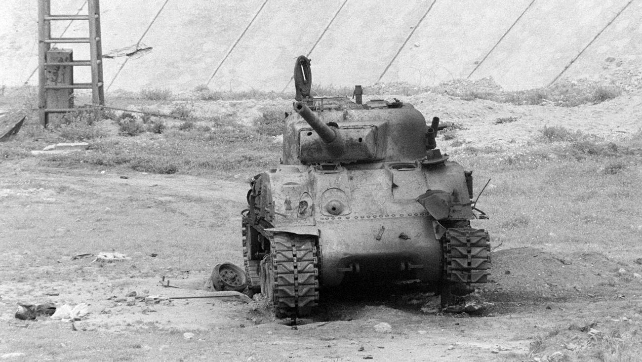 M50 zniszczony w służbie libańskiej milicji, 1983 rok (fot. US Department of Defense)