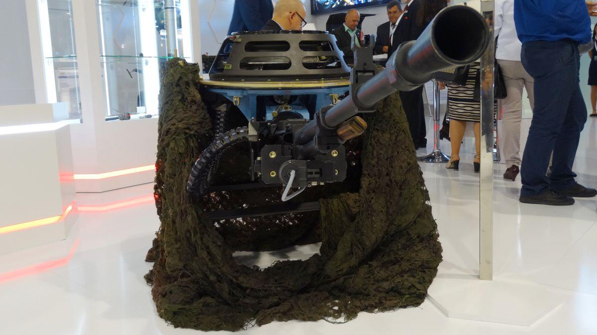 Propozycja modernizacji wieżyczki śmigłowca Mi-24 z wielkokalibrowym karabinem maszynowym NSW UTIOS WKM - Bm kalibru 12,7 milimetra. Efekt współpracy ZM Tarnów i WZL-1.