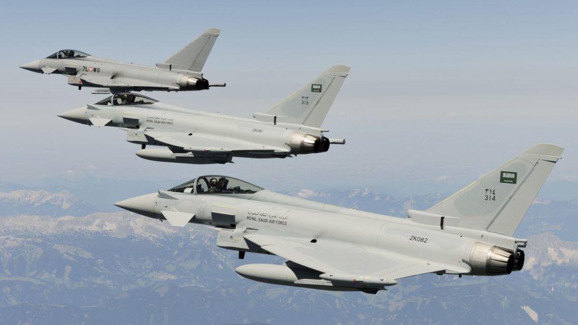 Saudyjski Typhoon rozbił się w Jemenie podczas lotu bojowego   Konflikty.pl