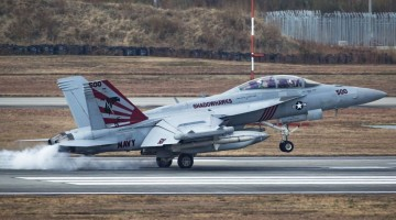 MCAS Iwakuni welcomes the first jet squadrons from Carrier Air Wing Five