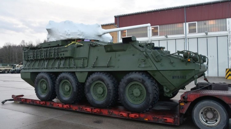 Pierwszy Stryker Dragoon w Europie   Konflikty.pl