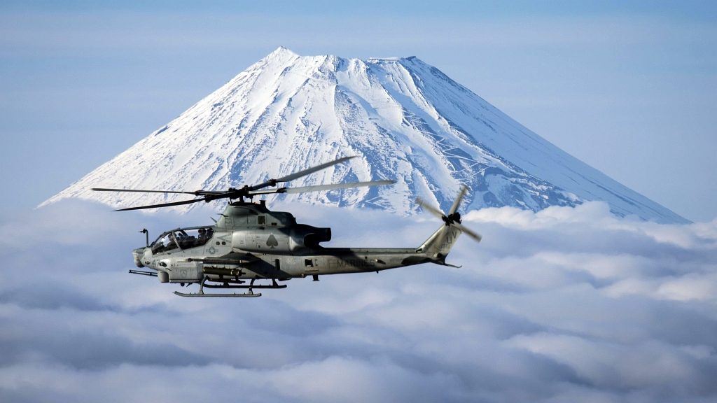 Marine helicopters soar farther than before with auxiliary fuel tanks
