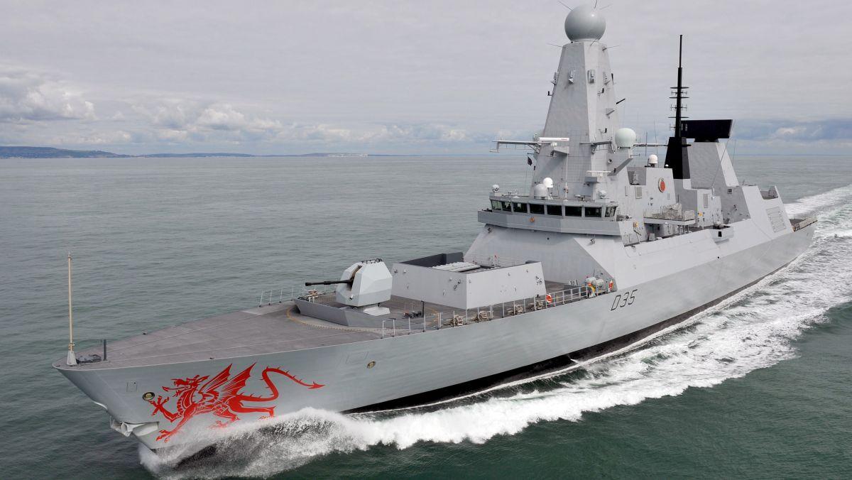 Brytyjski niszczyciel HMS Dragon typu 45 (fot. LA(Phot) Nicky Wilson / MOD)