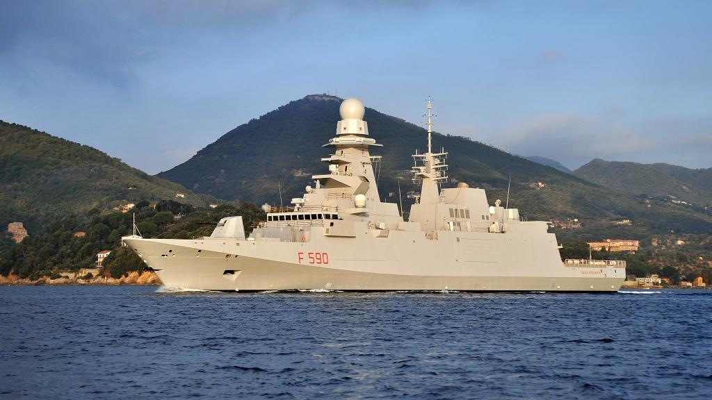 Włoska Fregata Carlo Bergamini (F590) typu FREMM (Fabius1975, domena publiczna)