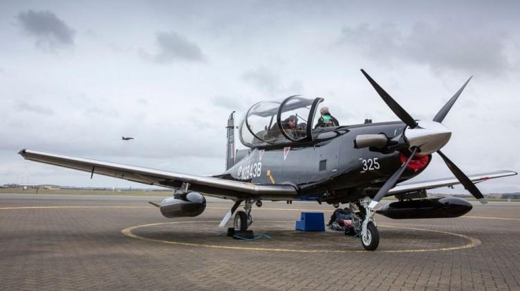 Texan T6C arrives at RAF Valley