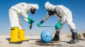 Multiple base agencies conduct a joint chemical response exercise