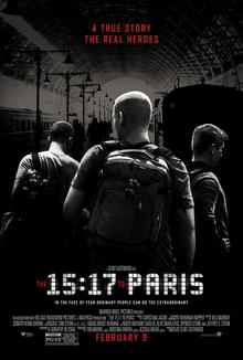 """""""15:17 do Paryża"""". Reżyseria: Clint Eastwood. Scenariusz: Dorothy Blyskal. Czas trwania: 94 minuty. Produkcja: Stany Zjednoczone."""